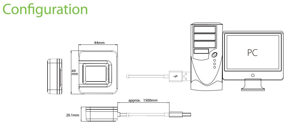 SLK20R Fingerprint Scanner Connection Diagram